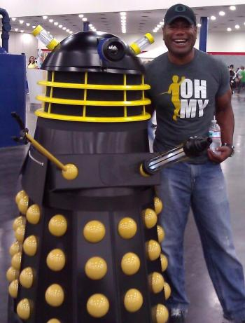 Christopher Judge and Dalek