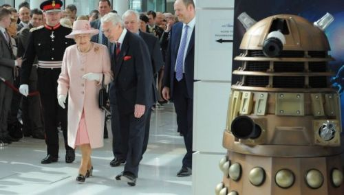 Dalek lurks in ambush for the Queen at BBC HG